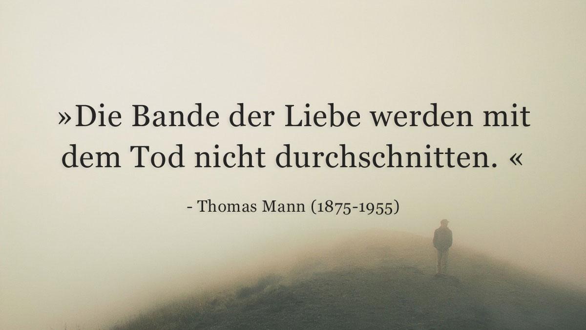 Trauerspruch » Thomas Mann