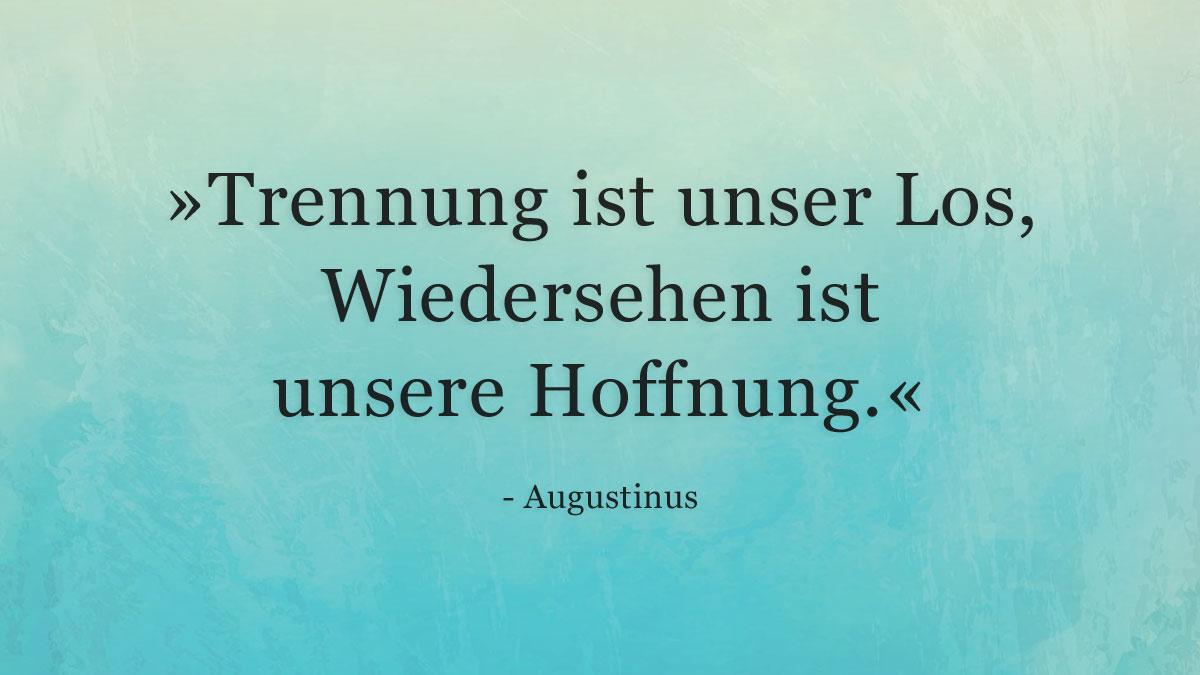 Trauerspruch » Augustinus